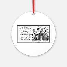 L.J. Leroy Saloon Round Ornament