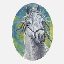 Andalusian Lusitano horse by Delia Oval Ornament