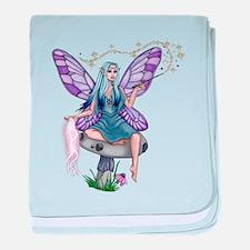 Mushroom Fairy baby blanket