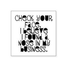 Nosy People Gossip Humor Sticker