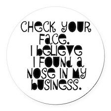 Nosy People Gossip Humor Round Car Magnet