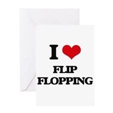 I Love Flip Flopping Greeting Cards