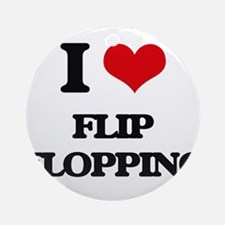 I Love Flip Flopping Ornament (Round)
