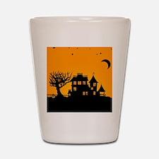 Halloween Manor Shot Glass