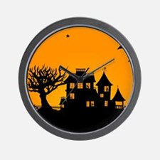 Halloween Manor Wall Clock