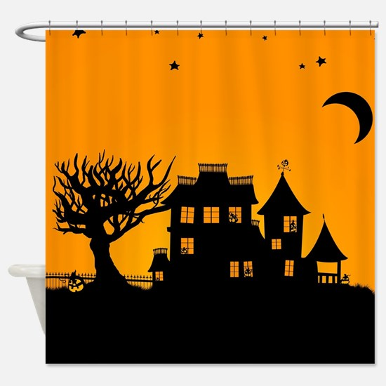 Halloween Manor Shower Curtain