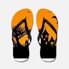 Halloween Manor Flip Flops