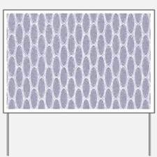 Art Deco Chevron Lavender Mist Yard Sign