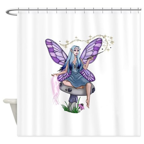 Mushroom Fairy Shower Curtain