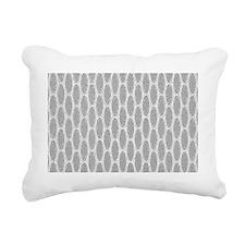 Art Deco Chevron Platinu Rectangular Canvas Pillow