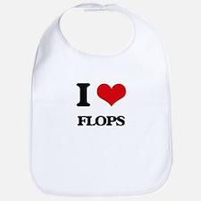 I Love Flops Bib