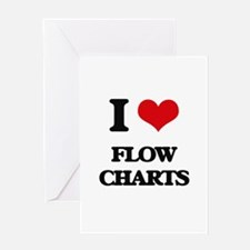 I Love Flow Charts Greeting Cards