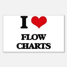 I Love Flow Charts Decal