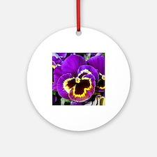 Beautiful purple pansy Ornament (Round)