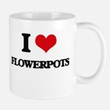 I Love Flowerpots Mugs