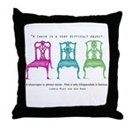 Mies van der Rohe/Chip-Chairs Throw Pillow