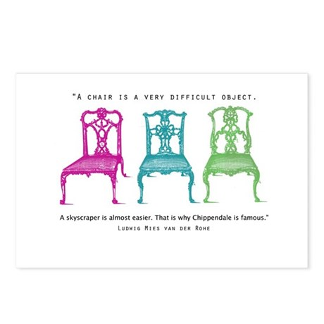 Mies van der Rohe/Chip-Chairs Postcards (Package o