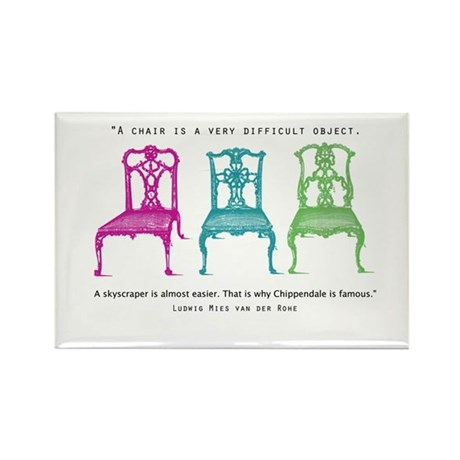 Mies van der Rohe/Chip-Chairs Rectangle Magnet