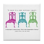 Mies van der Rohe/Chip-Chairs Tile Coaster