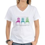 Mies van der Rohe/Chip-Chairs Women's V-Neck T-Shi