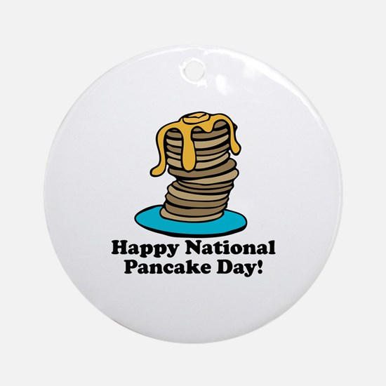 Pancake Day Ornament (Round)