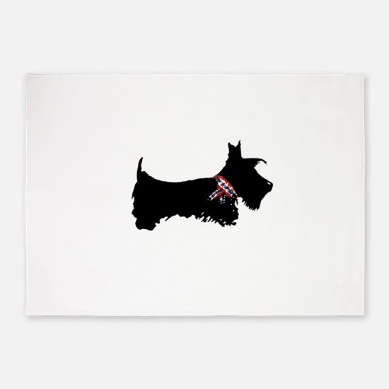 Scottie Dog 5'x7'Area Rug