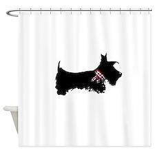 Scottie Dog Shower Curtain