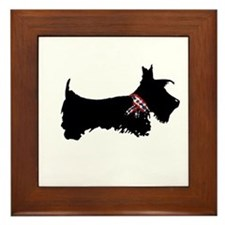 Scottie Dog Framed Tile
