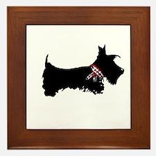 Scottie Dog Framed Tile