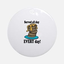 Served All Day Ornament (Round)