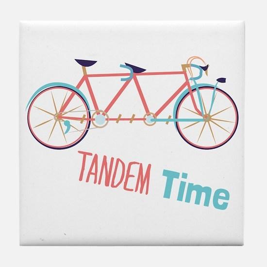 Tandem Time Tile Coaster