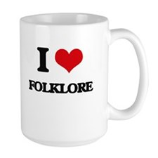 I Love Folklore Mugs
