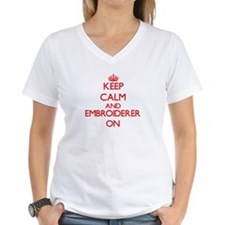 Keep Calm and Embroiderer ON T-Shirt