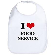 I Love Food Service Bib