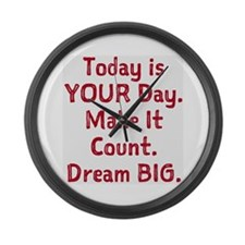 Make It Count Large Wall Clock