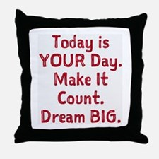 Make It Count Throw Pillow