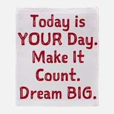 Make It Count Throw Blanket