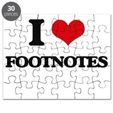 I Love Footnotes Puzzle