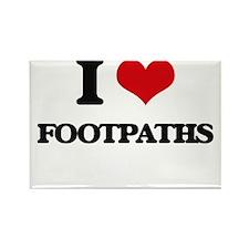 I Love Footpaths Magnets