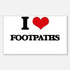 I Love Footpaths Decal