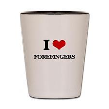 I Love Forefingers Shot Glass