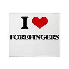 I Love Forefingers Throw Blanket