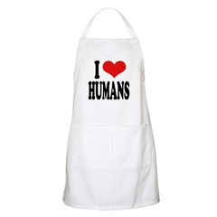 I Love Humans BBQ Apron
