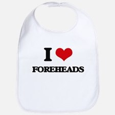 I Love Foreheads Bib