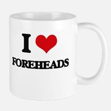 I Love Foreheads Mugs