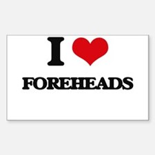 I Love Foreheads Decal