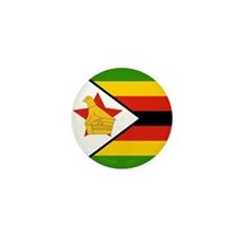 Zimbabwe Flag Mini Button