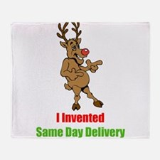 Reindeer invents Same Day Delivery Throw Blanket