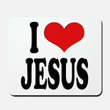 I Love Jesus Mousepad