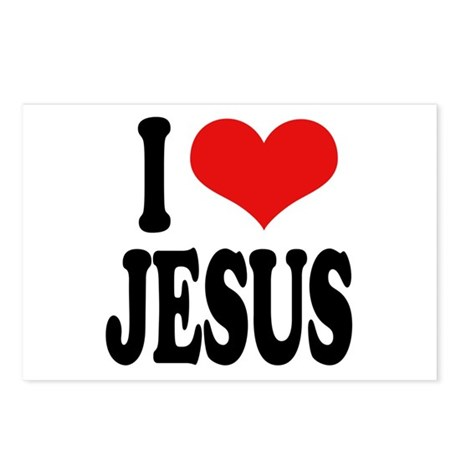I Love Jesus Postcards (Package of 8)